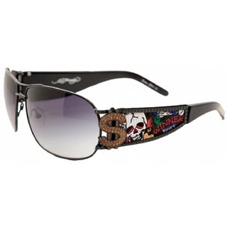 Ed Hardy EHS-043 Winner Take All Black Sunglasses