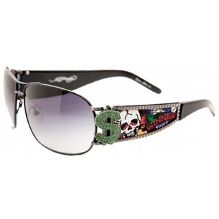 Ed Hardy EHS-043 Winner Take All Gunmetal Sunglasses