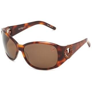 True Religion Georgi Rectangular Tortoise Sunglasses