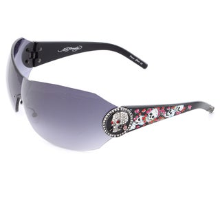 Ed Hardy EHS-042 Catcher Black Sunglasses