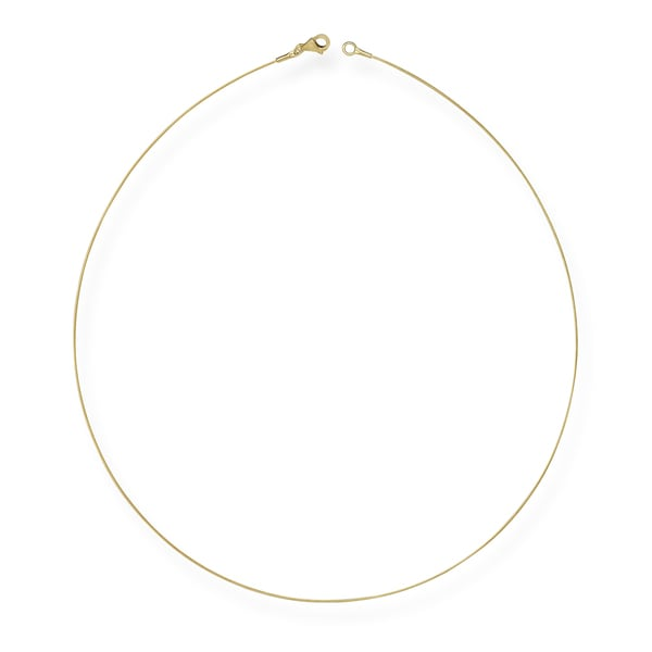 Oval Style Silver Neck Wire