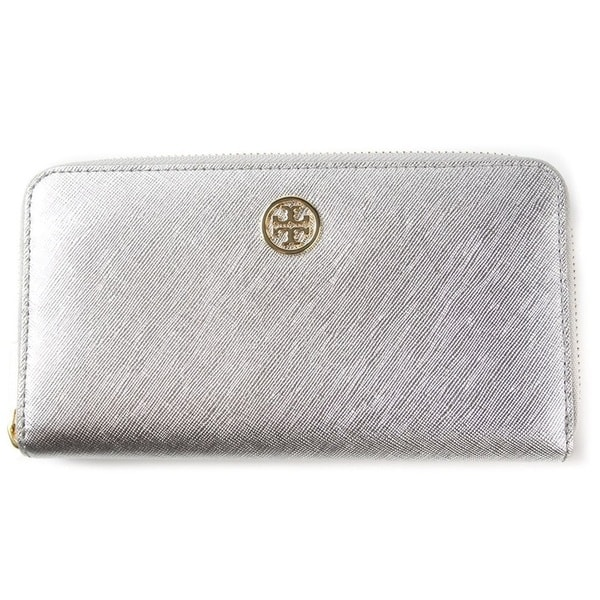 4787b59b3b9 Shop Tory Burch Robinson Metallic Zip Continental Wallet - Free ...