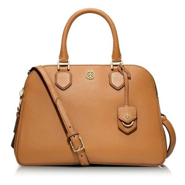 cec74e77a Shop Tory Burch Robinson Pebbled Triple-Zip Satchel Handbag - Free ...