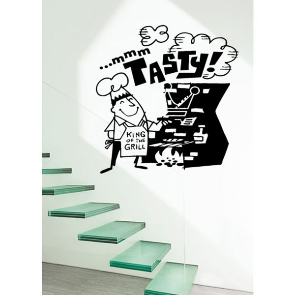Funny chef King Of The Grill Wall Art Sticker Decal