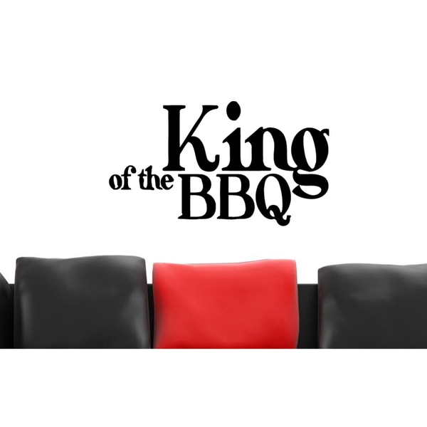 King Of The BBQ Wall Art Sticker Decal