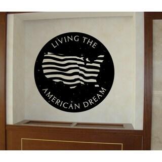 American Flag American Dream Wall Art Sticker Decal