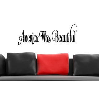 America the Beautiful Wall Art Sticker Decal