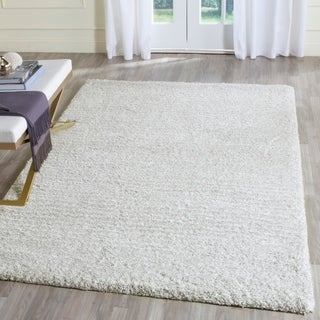 Safavieh Hand-Tufted Ultimate Shag Silver/ Ivory Polyester Rug (5' x 8')