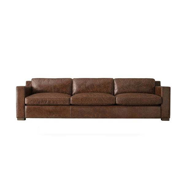 Bryant 5 Foot Black Or Brown Leather Made To Order Sofa