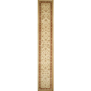 Finely Hand-knotted Agra Design Runner Rug (2' 9 x 17' 8)