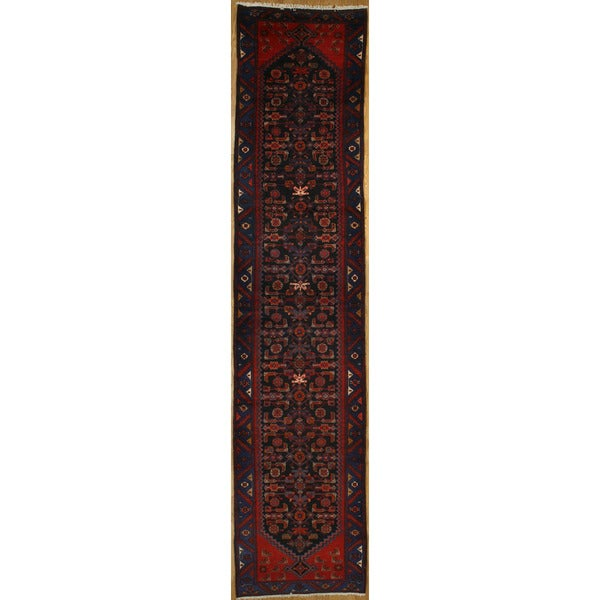 Persian Runner with Geometric Design (3' 5 x 15' 9)
