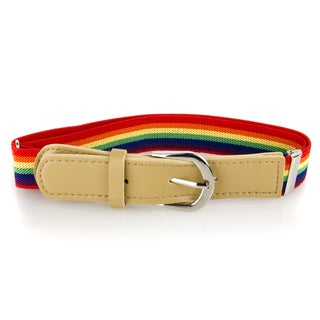 Crummy Bunny Colorful Striped Adjustable Elastic Waist Belts