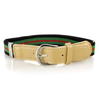 Crummy Bunny Green Striped Adjustable Elastic Waist Belts