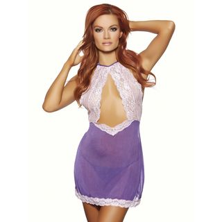 Seductive Purple Chemise with Matching Panty by Popsi Lingerie