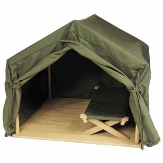 Gombe Rainforest Camping Tent and Cot Set for 18-inch Doll (Option: Green)