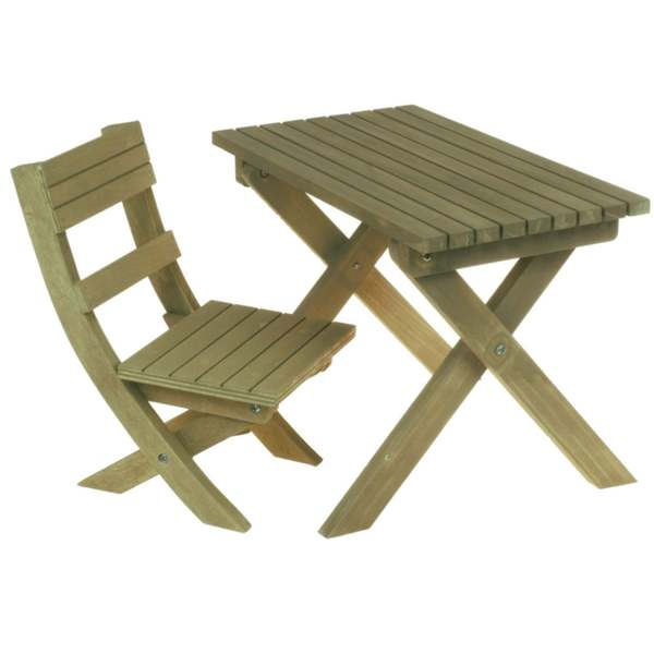 "The Queen's Treasures Gombe Rainforest Table & Chair Set for 18"" Doll Girl"