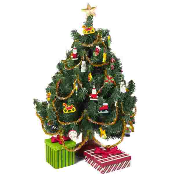 "The Queen's Treasures Christmas Tree Kit With Ornaments & Packages Fits 18"" Girl Doll Furniture & Accessories"