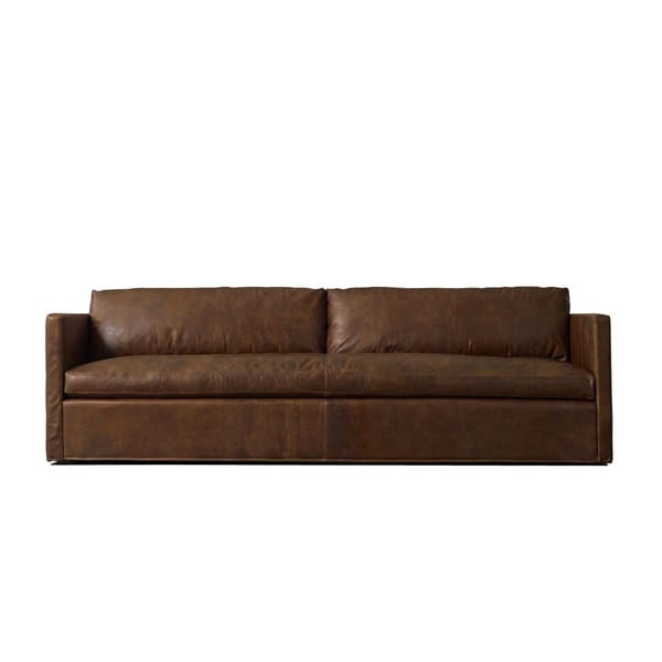 Gramercy 8 foot extra deep black or brown leather made to for 8 foot couch