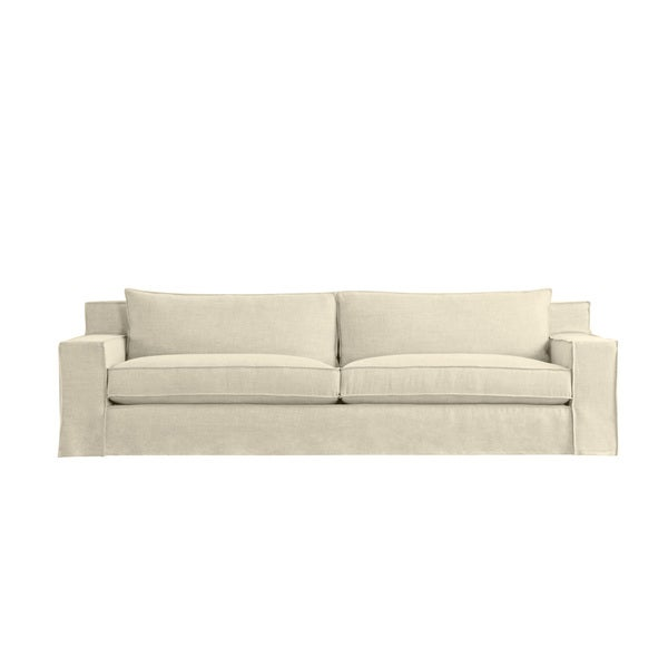 Byrne 8 foot modern linen made to order sofa free for 8 foot couch
