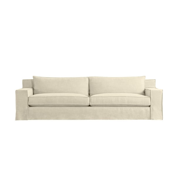 Byrne 7 Foot Extra Deep Modern Linen Made To Order Sofa Free Shipping Today Overstock Com 18574319
