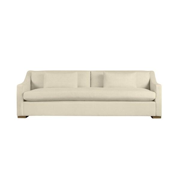Duffy 9-foot Extra Deep Modern Linen Made to Order Sofa