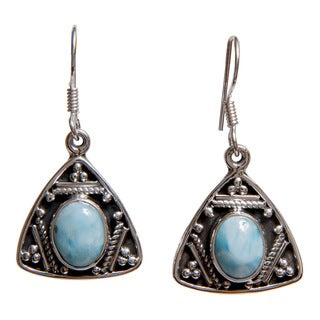 Artisan-made Sterling Silver Gemstone Earrings (India)
