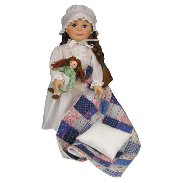 """The Queen's Treasures Officially Licensed Little House on the Prairie 18"""" Laura Ingalls Doll"""