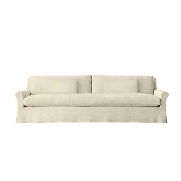 Empire 6 Foot Extra Deep Modern Linen Made To Order Sofa Free