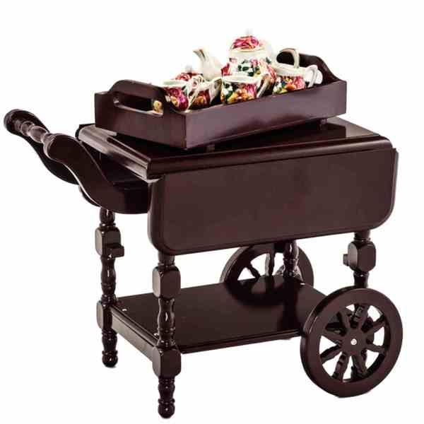 """The Queen's Treasures Tea Cart for 18"""" Dolls and 18"""" Doll Furniture"""