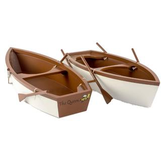 The Queen's Treasures American Skiff Style Row Boat Accessory with Oars fits Two 18-inch Girl Dolls