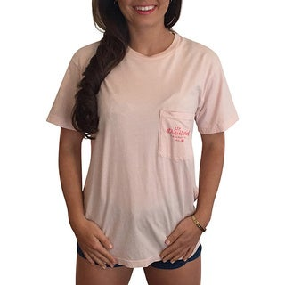 Sweet Tee Can't Fix It Collection Pale Pink Short Sleeve Pocket T-Shirt