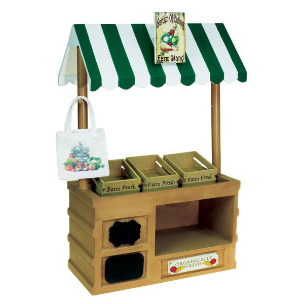 """The Queen's Treasures Interchangeable 18"""" Doll Farm Stand, Fits 18"""" Girl Doll"""