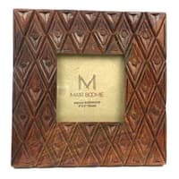 Square Indian Palace Rosewood Frame for 3X3 Photo (India)