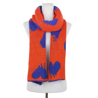 Dasein Two-Tone Stripe Free End Fashion Scarf