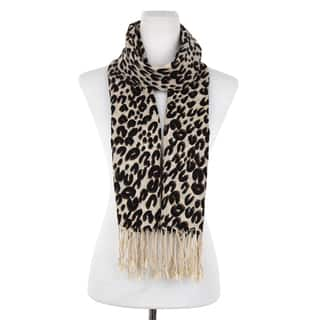 Dasein Free-End Fringe Leopard Print Scarf|https://ak1.ostkcdn.com/images/products/11641865/P18574500.jpg?impolicy=medium