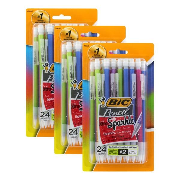 Bic Xtra Sparkle Mechanical Pencils 0.7mm HB #2 Assorted Barrels