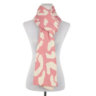 Dasein Double Sided Leopard Print Jacquard Scarf
