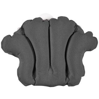Terry Bath Pillow - Spa-Quality Terry Cloth - Easily Inflatable with Secure Suction Cups - Hot Tub and Jacuzzi-Safe
