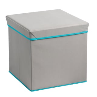 Heather Grey/ Teal Collapsible Storage Cube