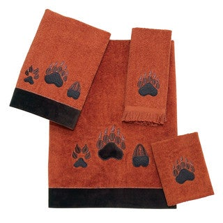 Paw Prints 4-piece Towel Set