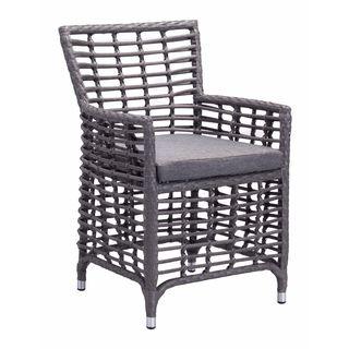 Sandbanks Grey Sunproof Fabric Dining Chair (Set of 2)