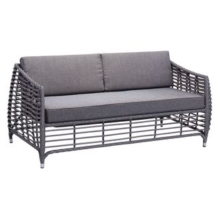 Wreak Gray Sunproof Fabric Beach Sofa