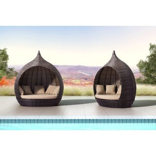 Martinique Brown Sunproof Fabric Beach Day Bed