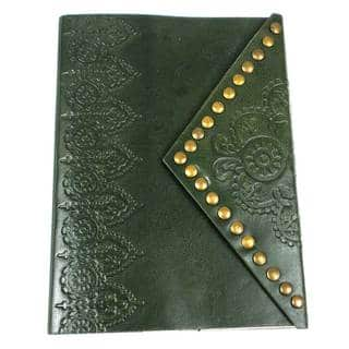 Handmade Nailhead Journal in Emerald (India)|https://ak1.ostkcdn.com/images/products/11642009/P18574698.jpg?impolicy=medium