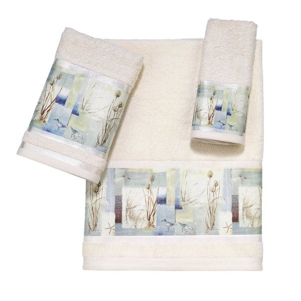 Avanti Blue Waters Embellished 3-piece Towel Set
