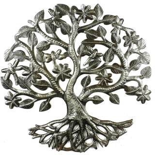 Handmade 14-inch Tree of Life with Dragonflies (Haiti)