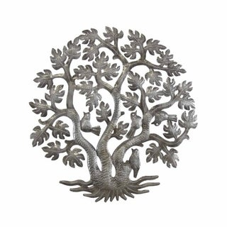 Handmade 14-inch Tree of Life Triple Trunk (Haiti)