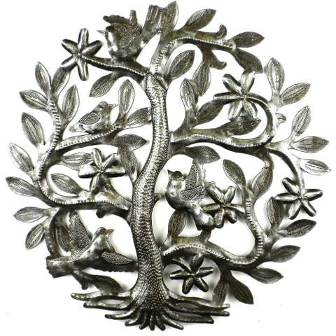 Handmade 14-inch Tree of Life with Birds (Haiti)