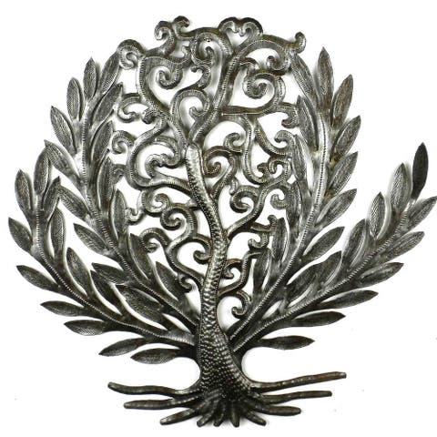 Handmade 14-inch Tree of Life Laurel Leaf (Haiti)