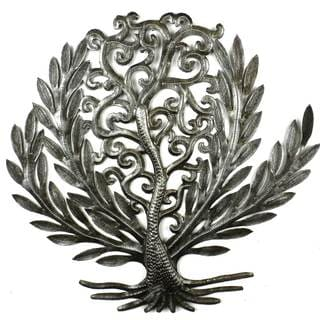 Handcrafted 14-inch Tree of Life Laurel Leaf (Haiti)